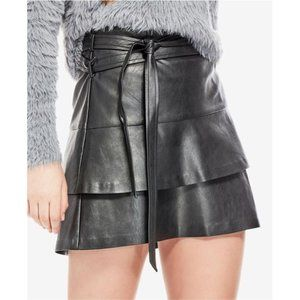 NEW Guess Black Tiered Wynn Faux Leather Vegan